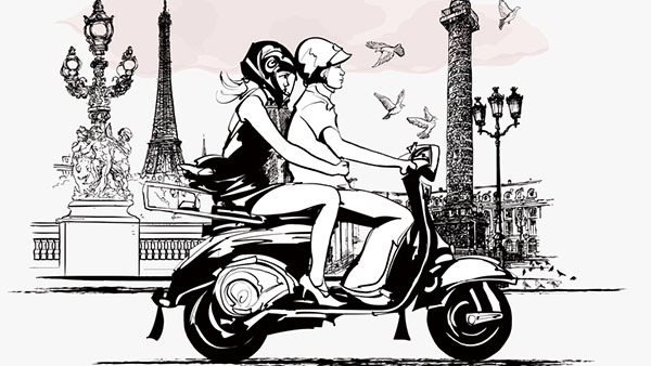 Visiter Paris en scooter
