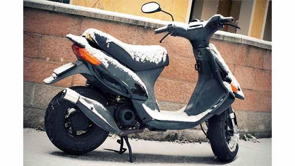 Le scooter en hivers