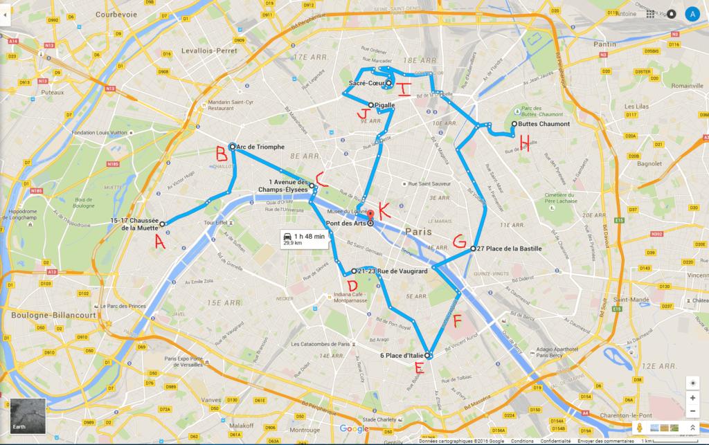 Balade scooter 50cc Paris
