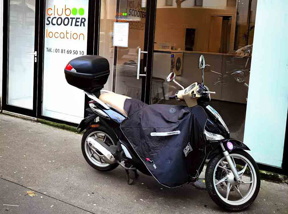 Scooter tablier